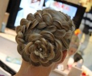 formal braided rose chignon - elegant