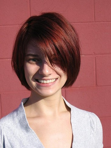 short haircuts with bangs side swept choppy straight across bangs pretty designs