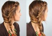 cute side braided hairstyle