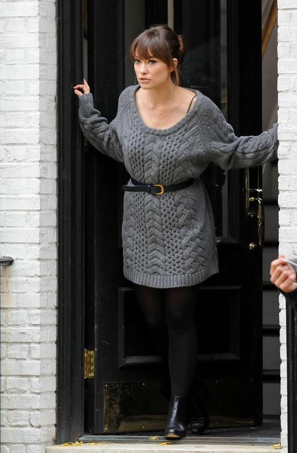 12 Cozy and Stylish Sweater Dresses for Fall 2014  Pretty