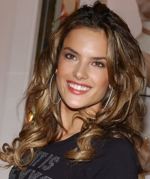 Alessandra Ambrosio Long Hairstyle Voluminous Curls