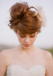 romantic wedding updo swirly sophisticated