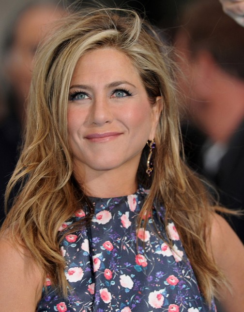 Jennifer Aniston Long Hairstyles 2014 Messy Straight Hairstyle