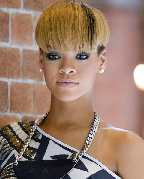 Rihanna Hairstyles Interesting Bowl Cut Pretty Designs