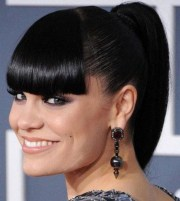 3 fabulous ponytails with bangs