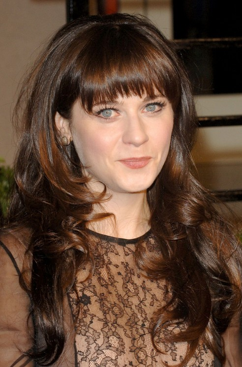 27 Zooey Deschanel Hairstyles Pictures Of Zooeys