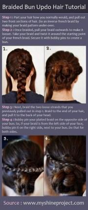 braided updo hairstyles tutorials