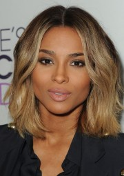 ciara medium hairstyle curly side