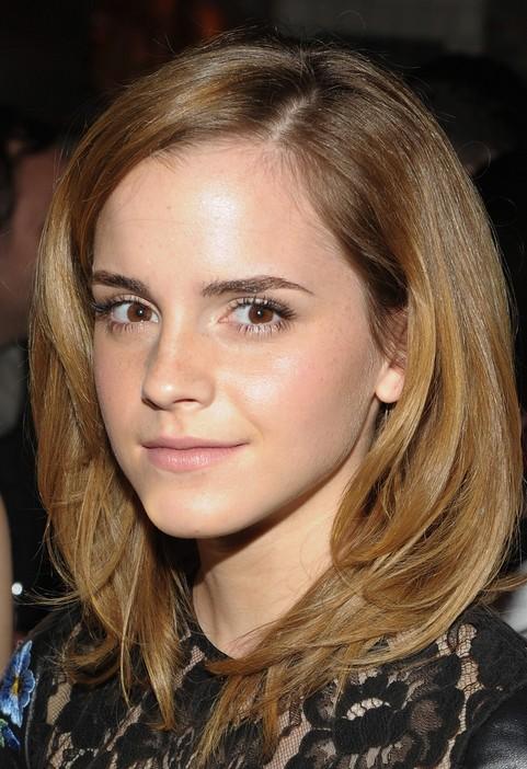 Emma Watson Medium Hairstyle Soft Locks  Pretty Designs