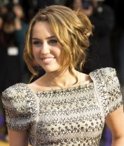 miley cyrus hairstyles messy updo