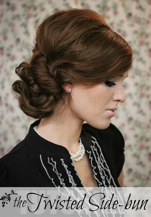 10 Side Bun Tutorials Low Messy And Braids Updos Pretty Designs