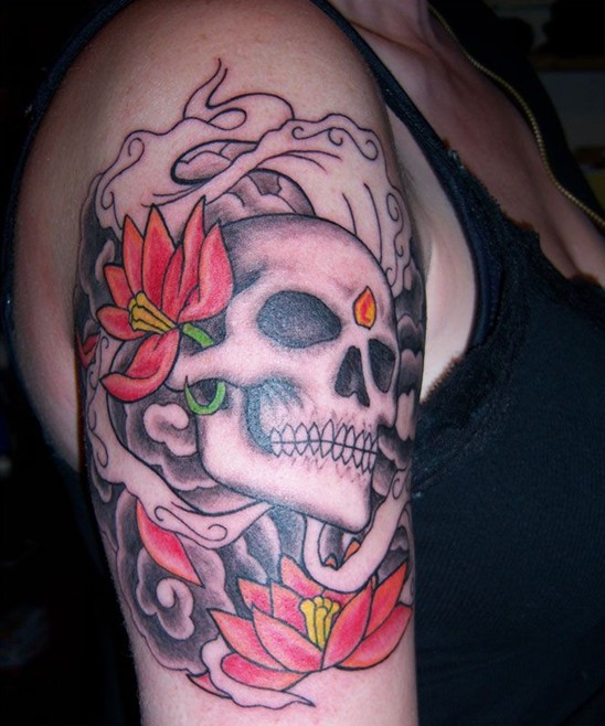 Small Skull Tattoos On Wrist