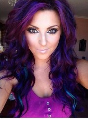 stunning purple hair trend