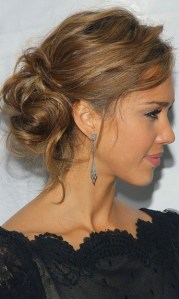 glamorous messy updo hairstyles