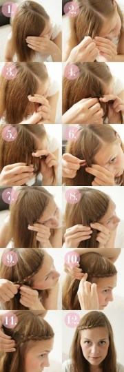 braided bangs tutorials cute