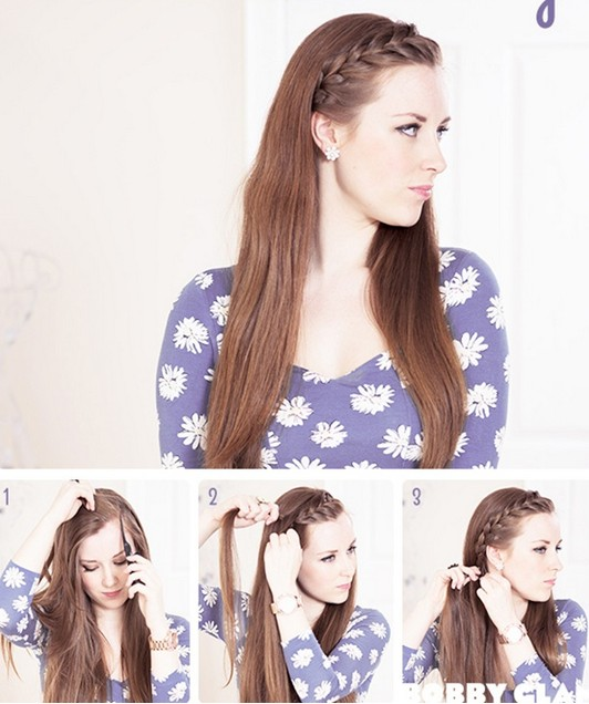 15 Braided Bangs Tutorials Cute Easy Hairstyles Pretty Designs