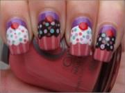 delicate cupcake nails tutorials