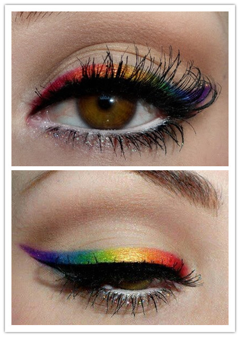A Collection of Colorful Eyeliner Makeup Ideas for