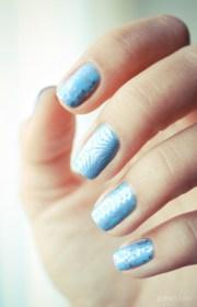 shiny metallic nail design