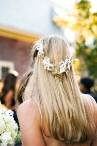 14 Braided HairstylesStylish Braids with Flowers