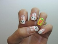 16 Lovely Easter Bunny Nail Arts You May Love - Pretty Designs
