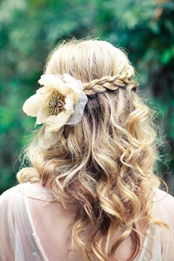 14 Braided HairstylesStylish Braids with Flowers