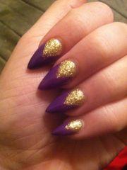 purple stiletto nail design