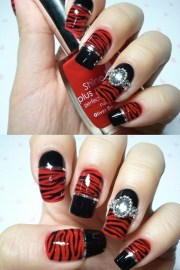 sexy red nail design