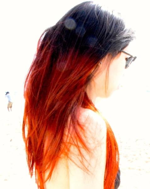 Black Long Hair Side Part