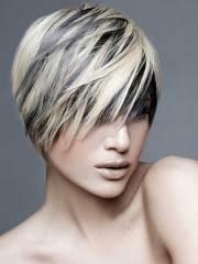stylish colors short hair