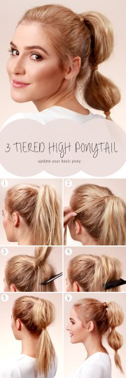 bubble ponytail tutorial - hair