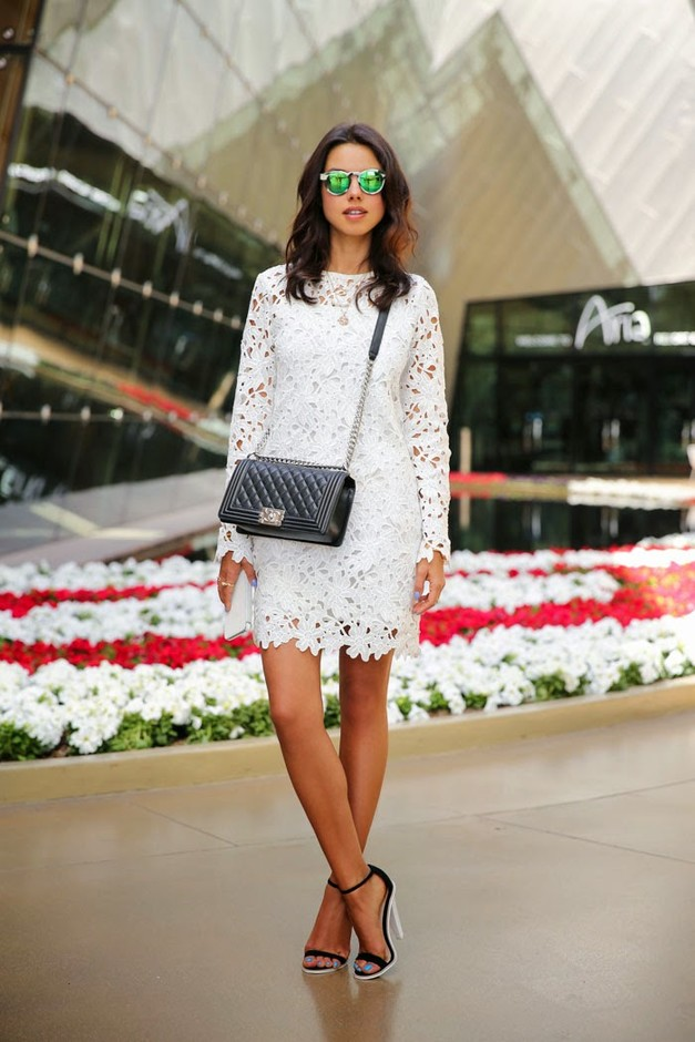 16 Gorgeous White Dress Outfit Ideas for Spring Summer 2014  Pretty Designs