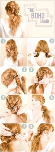 boho twisted hairstyles