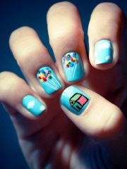 cartoon nails - reverse