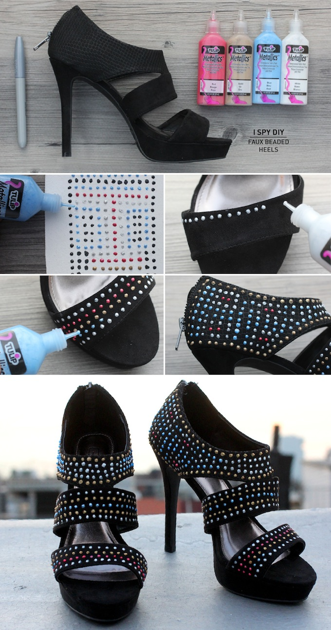 FAUX BEADED HEELS & CONTEST