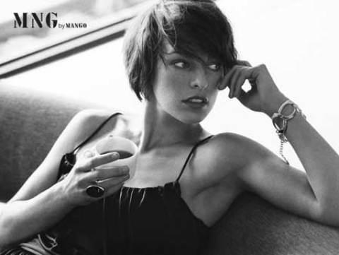 Milla Jovovich's Cool Bob Hair with Pretty Bangs