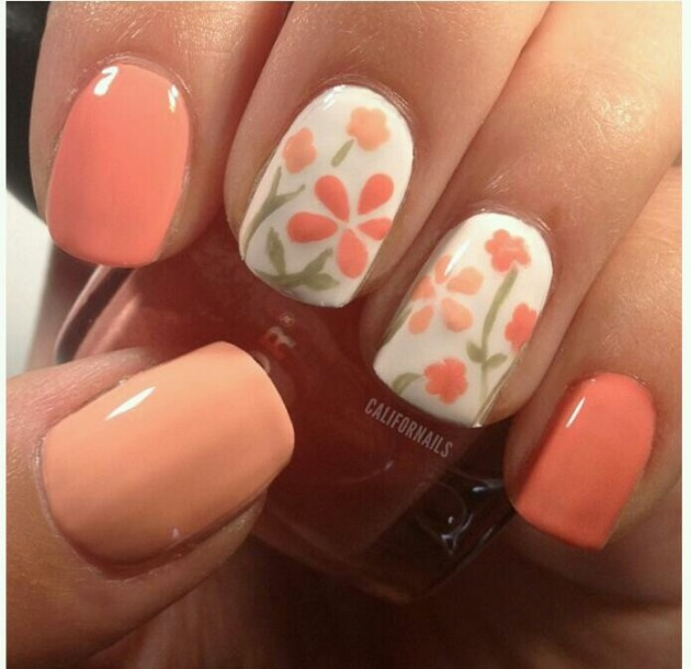 15 Colorful Flower Nail Designs for Summer 2014  Pretty