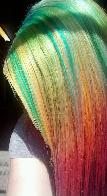 2014 Hot Ombre& Highlights Trend 30 Rainbow Colored Hairstyles