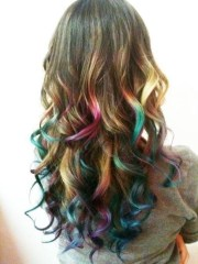 rainbow colored hairstyles