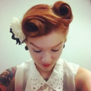 hairstyles vintage updo