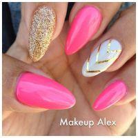 Pink Stiletto Nail Designs to Adore - Pretty Designs