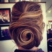 vintage glam swirl hair