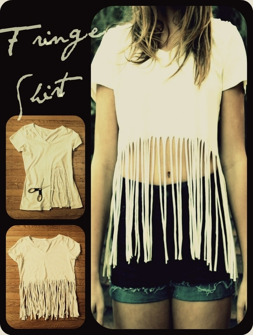 DIY Projects to Try Make Your Own Fringe Tshirt  Pretty