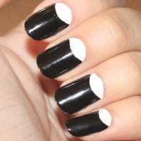 51 Stunning Half Moon Nail Art Designs | Nail Design Ideaz