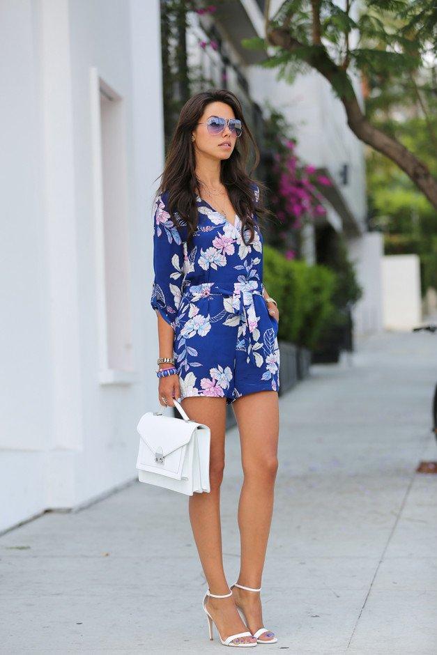 Blue Floral Jumpsuit Outfit