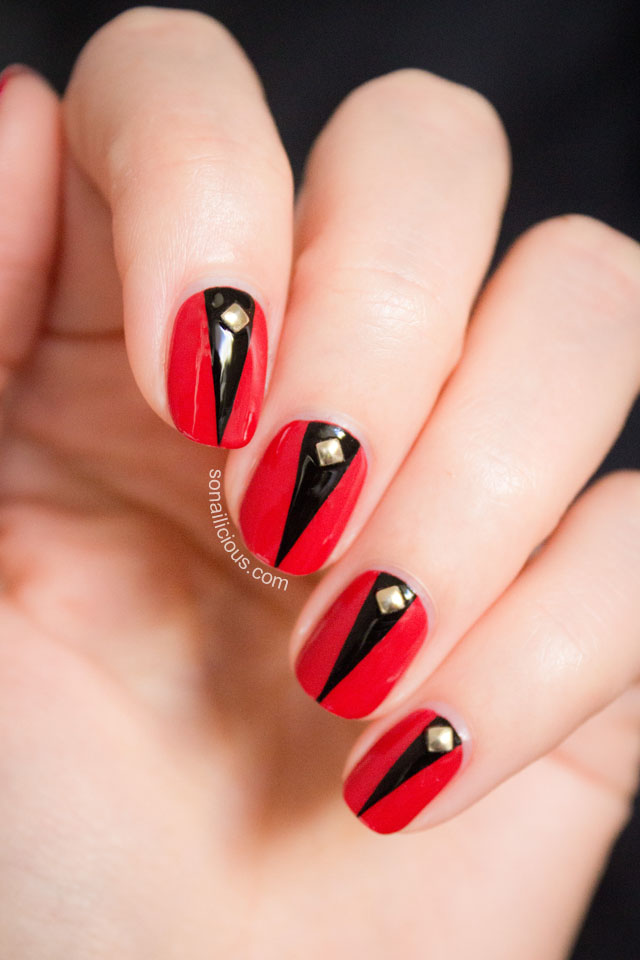 Easy Black And White Nail Art Best Red