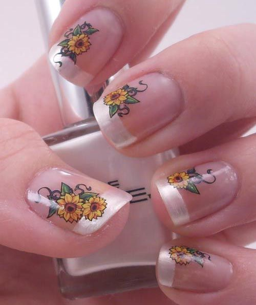15 Sunflower Nail Designs for the Season  Pretty Designs