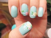 beautiful floral nail design