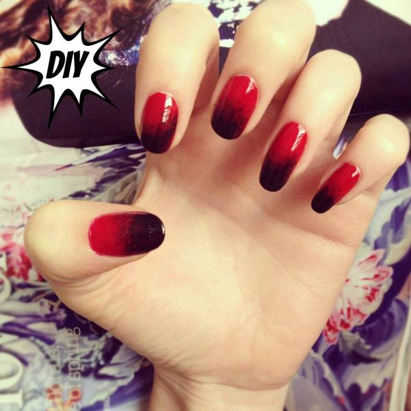 Red And Black Nails - Pretty Design