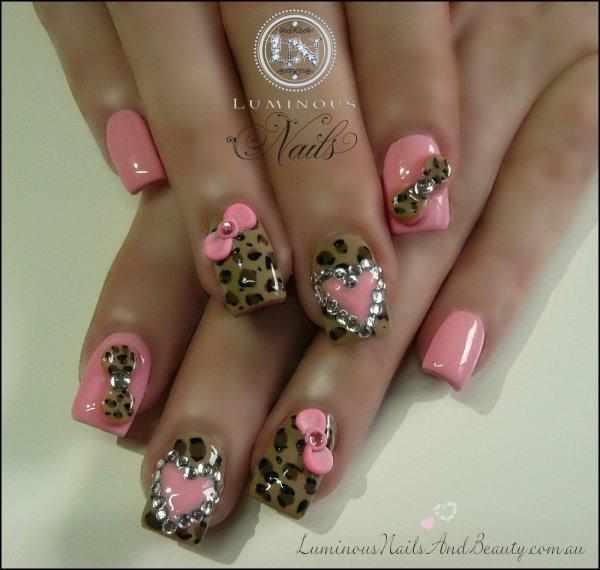 Cheetah Print Gel Nail Designs